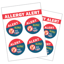 Allergy Alert Labels