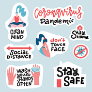 Covid-19 Pandemic Safety Stickers