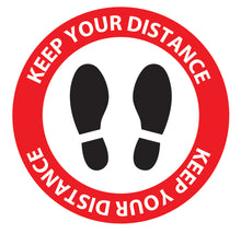 Covid-19 Keep Your Distance Safety Decal