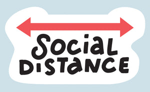 Social Distance Covid-19 sticker