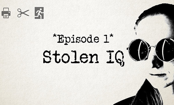 Print at Home Escape Game-Stolen IQ