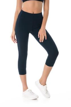 Navy Blue Cropped Legging