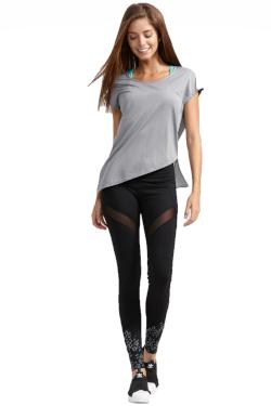 Gray t-shirt work out clothes