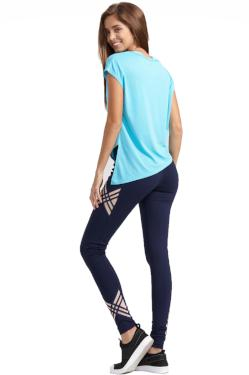 Short Sleeve t-shirt Sportswear comfortable turquoise