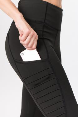 High Waist Moto Leggings with Pockets