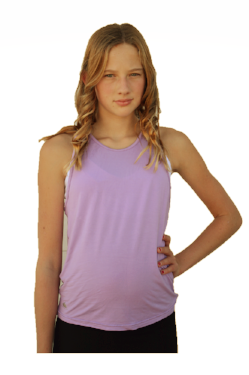 Lilac Strappy Back Tank Top
