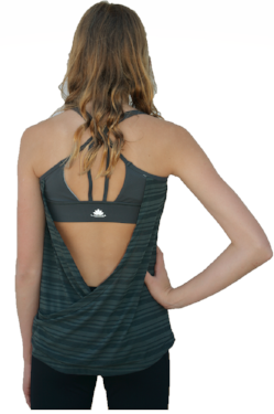 Gray Scoop Back Tank Top