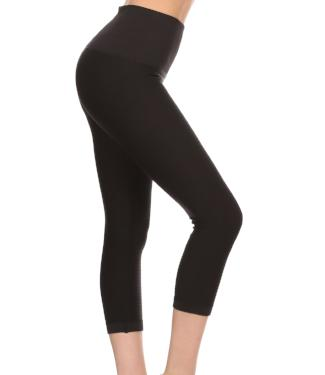 High Waist Moto Capri Leggings