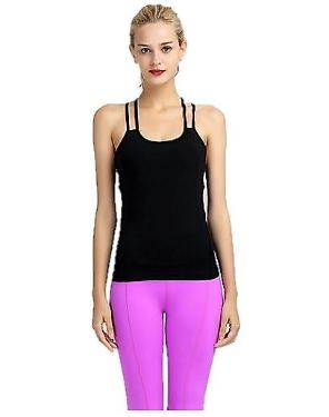 Yoga black tank top