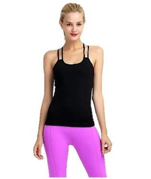 Black Tank top yoga activewear