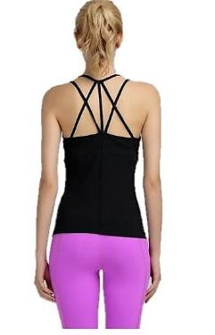 Back crisscross pattern tank top gym