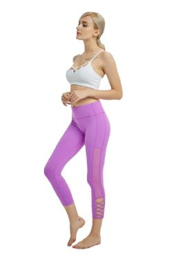 Mesh yoga pants capri leggings