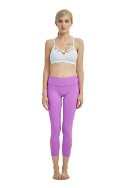 Pink yoga legging criss cross