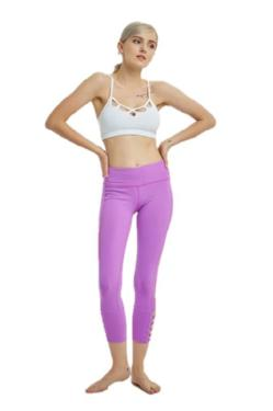 Yoga pants leggings pink purplr