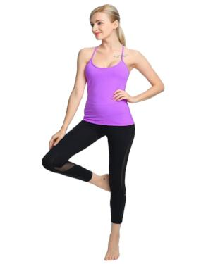yoga pose leggings mat block
