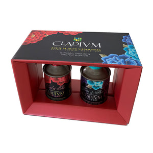 CLADIVM Virgen Extra Oil Olive ( 2 Tins) 250 ml- SENSATIONS PACK- flavors of nature - ARC IBERICO IMPORTS