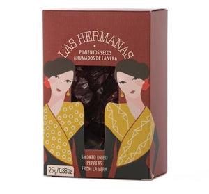 LAS HERMANAS PIMIENTOS SECOS- SMOKED PEPPERS - ARC IBERICO IMPORTS