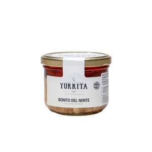 Bonito del Norte con Piquillo ( White tuna with Piquillo Pepper-225g glass jar) - ARC IBERICO IMPORTS