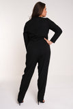 UNIQUE21 HERO Long Sleeve Wrap Jumpsuit