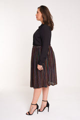 UNIQUE21 HERO Pleated Midi Skirt