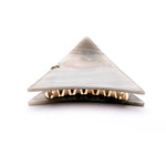 Small  Grey Marbled Triangle Hair Claws with Pendant