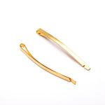 Pack of 2 Thin Hair Grips In Gold Tone
