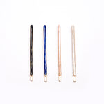 Pack of 4 Thin Hair Grips In Assorted Colour
