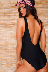 Flamingo Black Swimsuit