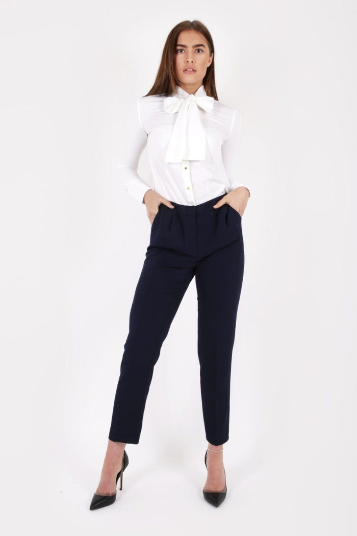 NAVY JERRY TAILORED TROUSERS