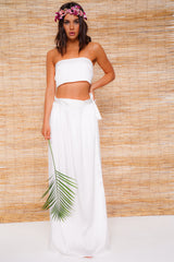 White Bandeau Top