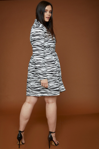 UNIQUE21 HERO Zebra Print Wrap Dress