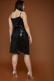 UNIQUE21 HERO Black Sequin Mini Cami Dress