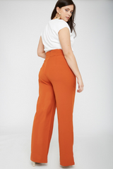 UNIQUE21 HERO Rust High Waisted Lace Up Trouser