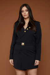 UNIQUE21 HERO Tailored Blazer Dress With Gold Buckle And Buttons