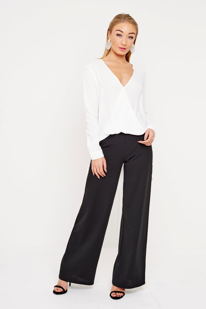 High Waisted Trousers in Black