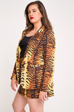 UNIQUE21 HERO Tiger Print Blazer