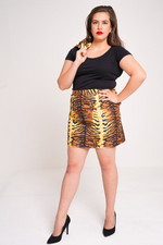 UNIQUE21 HERO Tiger Print Skirt