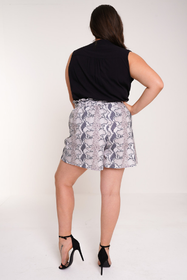 UNIQUE21 HERO Snakeprint Paperbag Waist Shorts