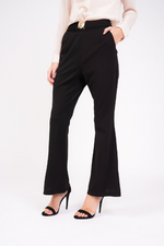 black high waisted trousers bottom view