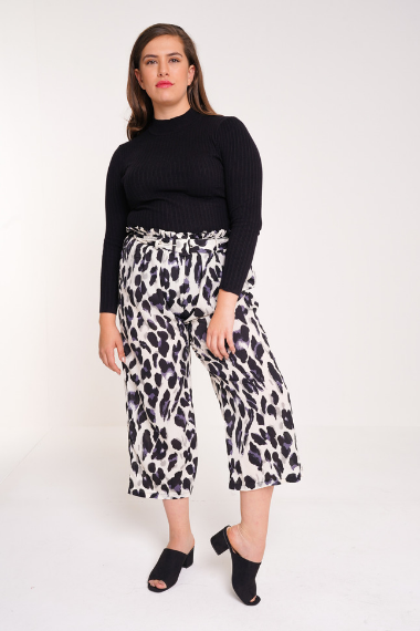 UNIQUE21 HERO Leopard Print Tie Waist Trouser