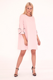 Pink Dress With Bow Detail Sleeves