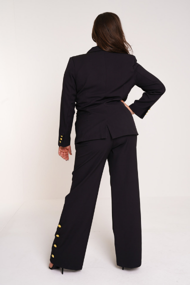 UNIQUE21 HERO Wide Leg Trouser With Gold Buttons