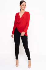 Red Wrap Around Blouse