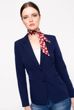 Red Floral Print Neck Tie