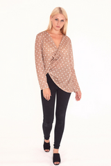 Wrap Around Polka Dot Blouse
