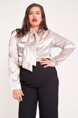 UNIQUE21 HERO Satin Pussybow Blouse