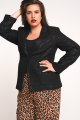 UNIQUE21 HERO Sequin Tweed Blazer