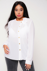 UNIQUE21 HERO Pussybow Neck Blouse in White