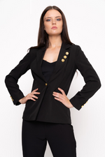 Blazer With Gold Button Detail