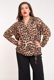 UNIQUE21 HERO Leopard Print Wrap Blouse